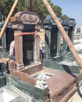 陵园墓碑安装