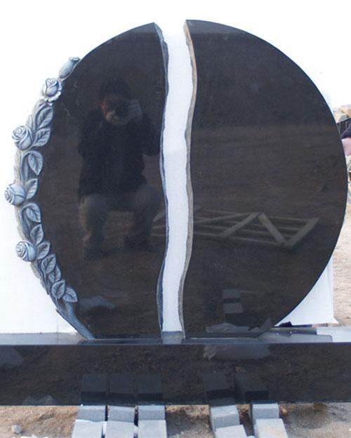 山西黑花岗岩墓碑